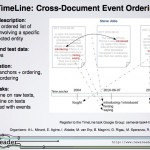 SemEval2015 Task4 – TimeLine: Cross-Document Event Ordering [Short teaser presentation at SemEval2014]